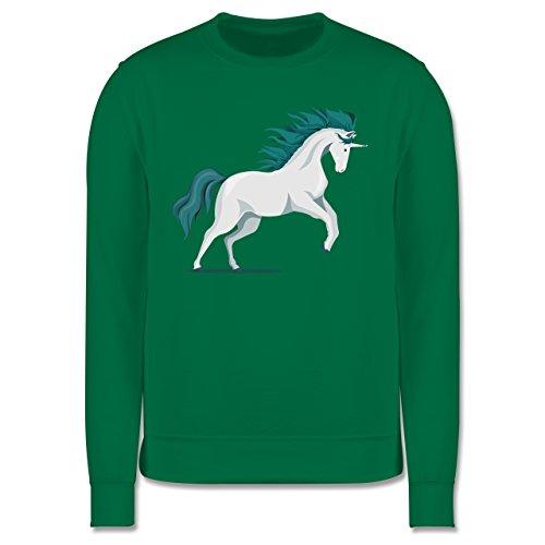 Pferde - steigendes Einhorn - Herren Premium Pullover Grün