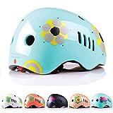 Anaranjado Minimalista - Cascos de diseño para niños y Bolsa de Viaje, Certificado de Seguridad, Patinaje en Ciclismo, Infantil, Color Duck Egg Blue Glossy, tamaño Small- 48-53 Cm