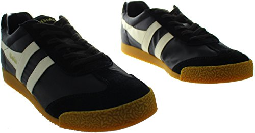 Gola Herren Harrier Nylon Sneaker Schwarz (Black/off White Bx)