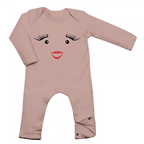 Shirt Happenz Kostüm Milch Babybody | Verkleidung | Karneval | Fasching | Langarm | Langärmliger Strampler, Farbe:Babyrosa (Powder Pink BZ13);Größe:12-18 Monate