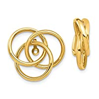 14ct Yellow Gold Polished Love Knot Earrings Jackets Jewelry Gifts for Women