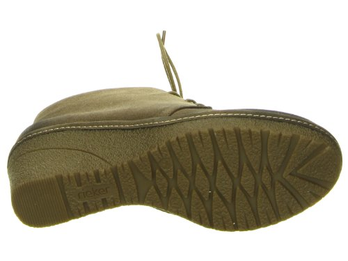 Rieker Damen Stiefel/Stiefelette Stacflam, Warmfutter 100% Polyester, 40 mm Keil, TR-Sohle 37