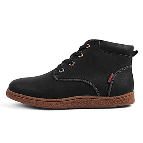 Schaffell Tall Boots (Qianliuk Männer Stiefeletten Atmungsaktive Männer Lederstiefel Hohe Schneeschuhe Outdoor Casual Leder Männer Winterschuhe)