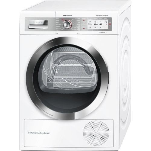 Bosch wty877h8it Washing Machine - Washer Dryer (Drum Front, Freestanding, White, Right, B, B)