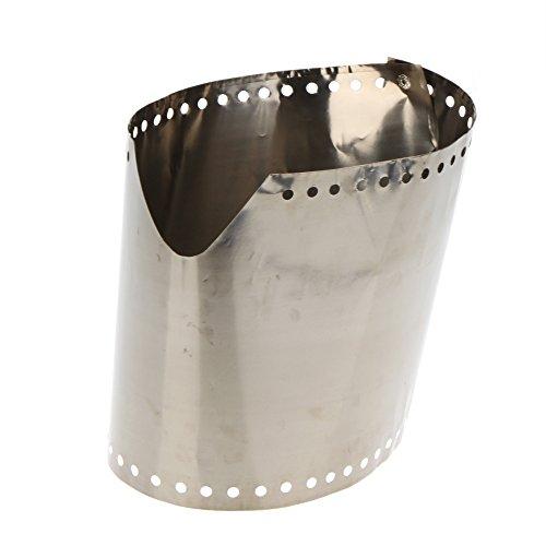 Lixada Campingkocher Windschutz Windschutzscheibe Ultraleicht Ultra Dünn Titan Windscreen