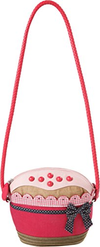 Room Seven BV F147401, Borsa a tracolla forma cupcake Donna Rosso (Rot (Red))