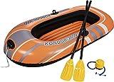 Bestway Hydro-Force - Barca hinchable, 186 x 100 cm, incluye remos y hinchador de pie