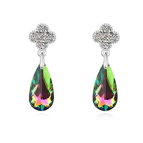 Swarovski elements lusso orecchini in oro bianco 18kt placcato–regalo ideale per donne e ragazze–in confezione regalo