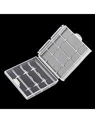 Cloverclover Caja de Almacenamiento de batera de plástico Caja de plástico Duro Soporte de bateras 6cm ø— 1.5cm × 6cm