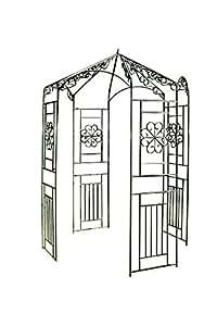 Clp rosenpavillon aus eisen mit stilvollen verzierungen for Gartendekoration eisen