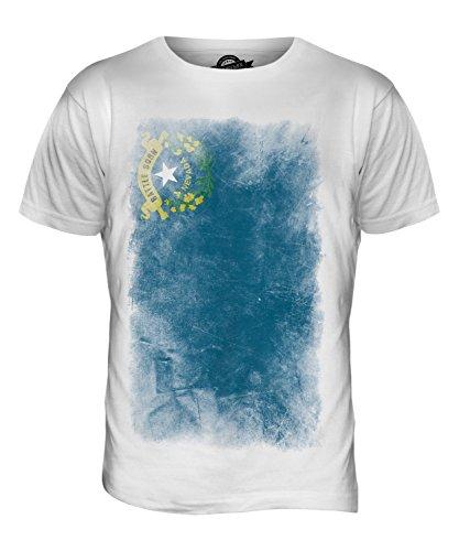 CandyMix Bundesstaat Nevada Verblichen Flagge Herren T Shirt Weiß