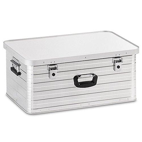 Enders Alubox 80 Liter + Schloss Set, hochwertig verarbeitet, mit Moosgummidichtung, Alukiste flexibel verwendbar als Transportbox und Lagerbox - Alukoffer Lagerkisten Metallkiste Metallbox Aluboxen Alukisten