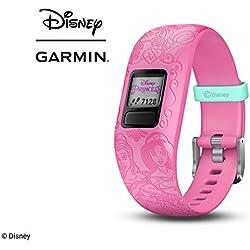 Garmin Vívofit Jr. 2 - Monitor de actividad para niños, Disney Princess Pink (Banda ajustable), Edad 6+