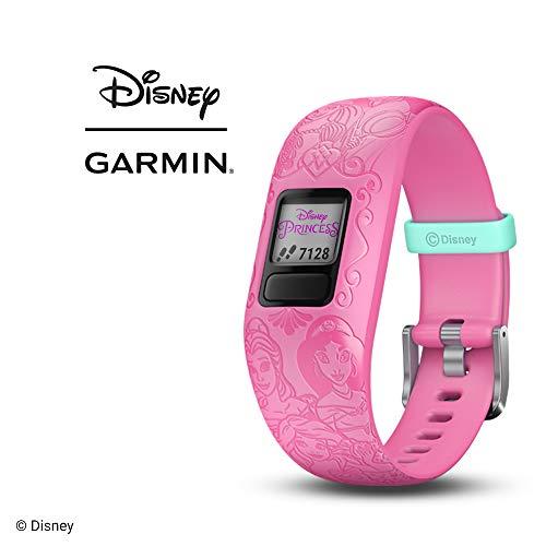 Garmin vívofit jr. 2, wasserdichte Action Watch für Kinder – Disney Prinzessin mit Abenteuer-App, pink