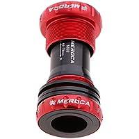 P Prettyia Eje Pedalier de Bicicleta con Rodamientos de Acero Ultra Lisos para Soporte Inferior de Platos 68-73mm - Rojo