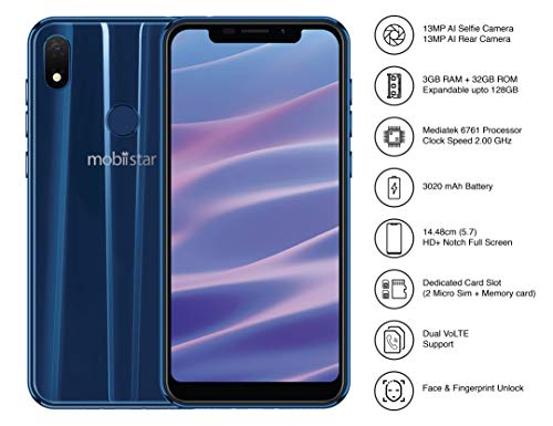 Mobiistar X1 Notch Sapphire Blue (3GB+32GB)