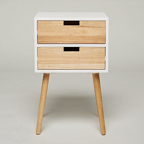 night stand with 2 drawers white wood telephone table. Black Bedroom Furniture Sets. Home Design Ideas