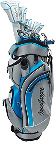 Macgregor Women's Dct Graphite Package Set with Cart Bag, Grey/Blue/White,
