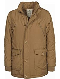 VEDONEIRE Mens Padded Casual Coat (3046 CAMEL) brown beige tan cotton winter coat