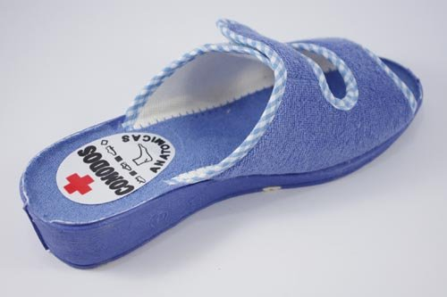 MADE IN SPAIN, Pantofole donna ACQUAMARINA