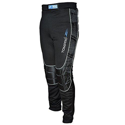 tompro Sprint Pantaloni da portiere, lunghezza Calcio Portiere GK pantaloni interno spazzolato Anatomic Protect abrasivi in schiuma resistente tessuto speciale da adulto, colore: nero, taglia M
