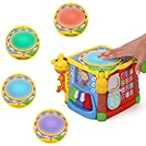 KONIG KIDS Little Artisan Game Multifunctional Learning Tools Workbench Toy With Lights And Music For Toddlers (Cube)