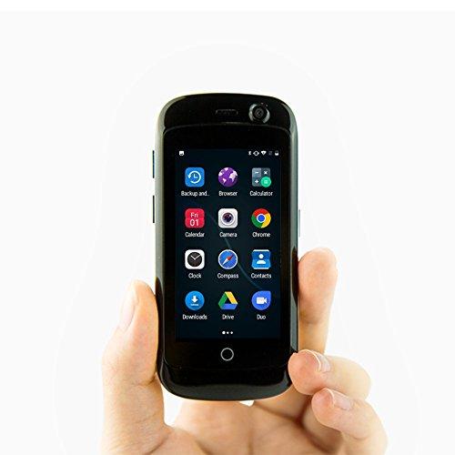 Unihertz Jelly Pro, Kleinstes 4G Smartphone der Welt, Android 7.0 Nougat entsperrt Smartphone mit 2 GB RAM und 16 GB ROM, Schwarz