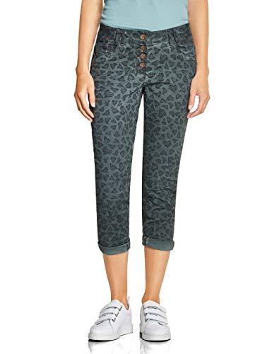 CECIL Damen 372395 New York Loose Fit Hose, Mehrfarbig (Slate Green 31687), W29/L26(Herstellergröße:29) -