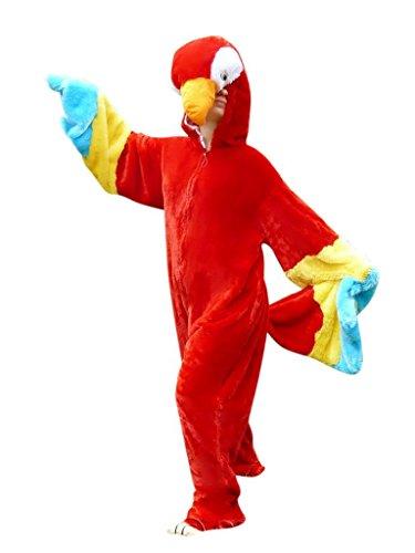 F32/00 Gr. M Papagei Kostüm für Fasching und Karneval, Kostüme für Frauen Männer Erwachsene Paare, Faschingskostüm, Karnevalkostüm