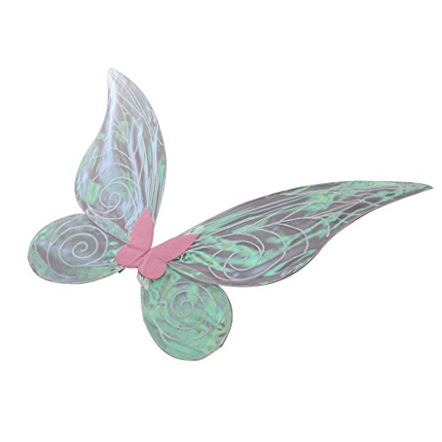 Blesiya Schmetterlingsflügel Feenflügel Farbwechsel Elfenflügel für Erwachsenen Cosplay Party Kostüm - Rosa, 62cm * 52cm