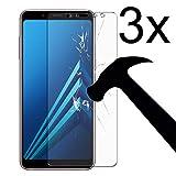 Weinstock-Science | 3X bruchsicheres Schutzglas für Samsung Galaxy A6 Plus (+)| Schutzfolie aus 9H Echt Glas