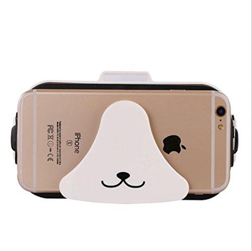 VR Virtual Reality 3D Brille Kopfhörer Kompatibel mit 4 bis 6 Zoll Smartphones für iPhone 7 7 s / 6 6 s Plus, Samsung S7 S8 / Galaxy S7 Rand, HUAWEI