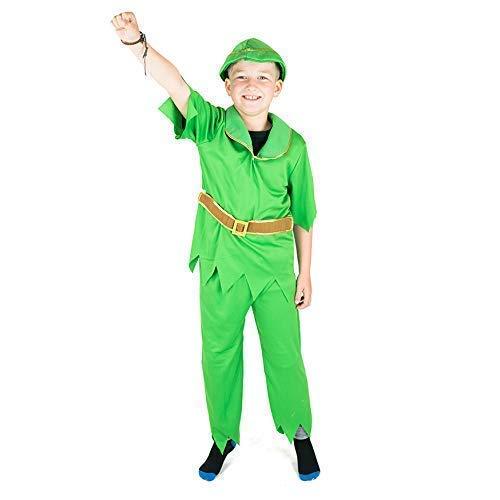 Kostüm Alter Peter Pan 8 - Bodysocks® Young Peter Kostüm für Jungen (7-9 Jahre)
