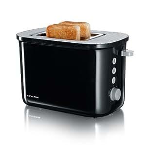 Severin AT 2213 Automatik-Toaster, schwarz-grau