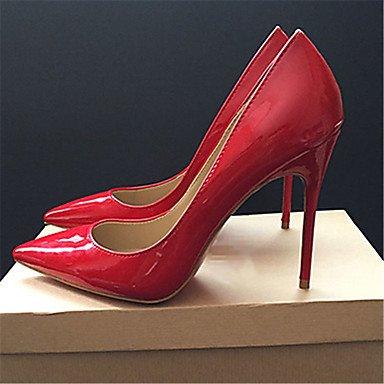 WSX&PLM Da donnaUfficio e lavoro Formale-Comoda-A stiletto-Finta pelle-Nero Rosso red