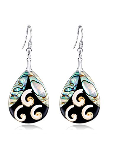 Wsqjpeh888 orecchini moda creativa geometrica serie shell selvatici, orecchini a forma di lacrima orecchini donna semplice ufficio shopping viaggio regalo di compleanno gioielli orecchio (colore : a)