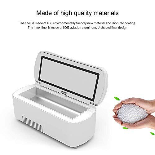 41TQY3zbi6L - Dison Care Mini refrigerador,insulina portátil caso del recorrido Caja del refrigerador,la diabetes mini refrigerador,pantalla LCD de carga 2-8 ° C