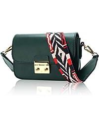 8b6c21b354 KAMIERFA Metallic Cross Body Bags Designer Handbags for Women Evening  Clutch Bag PU Leather with Chain