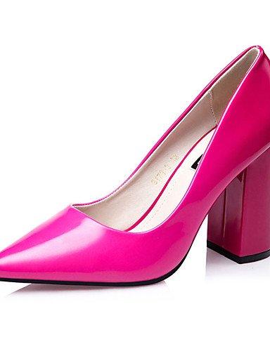 WSS 2016 Chaussures Femme-Décontracté-Bleu / Violet / Bordeaux / Corail-Gros Talon-Talons-Talons-Laine synthétique fuchsia-us8 / eu39 / uk6 / cn39