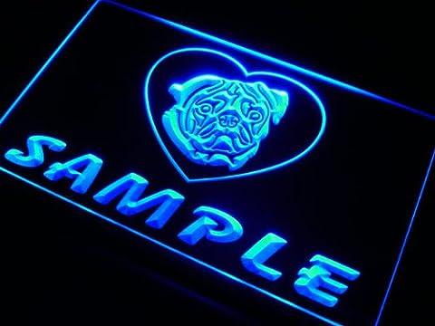 ve-tm Name Personalized Custom Pug Dog House Home Neon Sign Enseigne Lumineuse