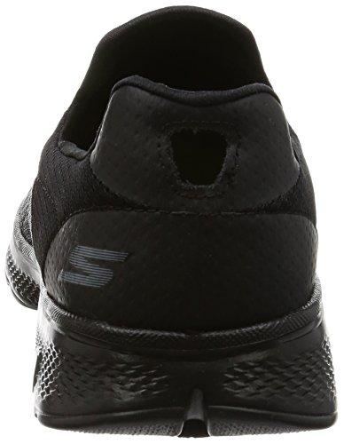 Skechers Go Walk 4, Baskets Basses Homme Noir