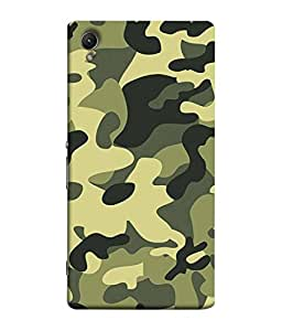 99Sublimation Designer Back Case Cover For Sony Xperia C6 Ultra Dual Army Shade Color Design