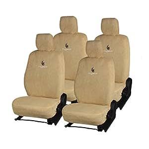 Pegasus Premium Beige Cotton Car Seat Cover For Volkswagen Polo