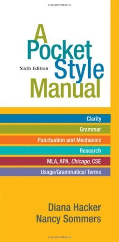 A Pocket Style Manual by Hacker, Diana, Sommers, Nancy (2011) Spiral-bound
