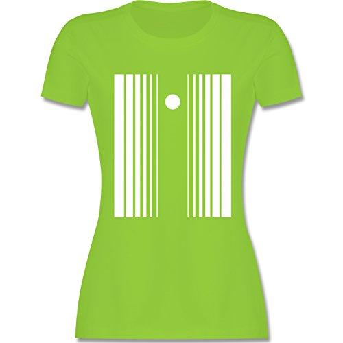 Karneval & Fasching - Doppler Effekt - M - Hellgrün - L191 - Damen T-Shirt (Der Doppler Effekt Kostüm)