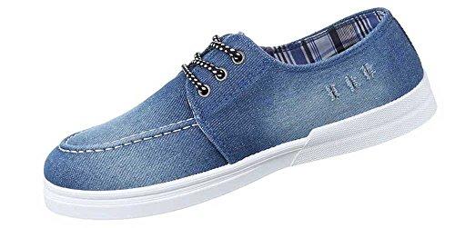 Herren-Schuhe Slipper   schicke Halbschuhe mit Schnürung in verschiedenen Farben und Größen   Schuhcity24   Used Optik Freizeitschuhe Hellblau