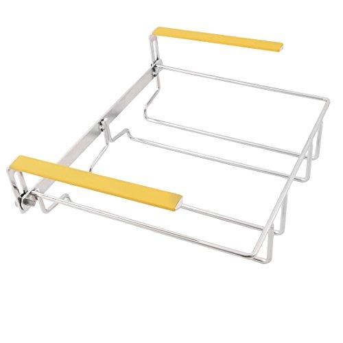 sourcingmap Bars 304 rostfreier Stahl 2 Reihen verstellbares Glas cup hangers Rack 23,5cm x 18cm x 4,5cm DE Glas Punch Cup
