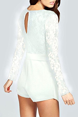 E-Girl femme Blanc SY6352-1 robe de cocktail Blanc