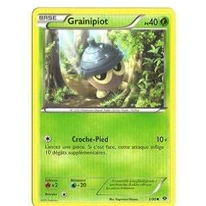 Carte Pokémon GRAINIPIOT 2/99 NOIR & ET BLANC DESTINEES FUTURES RARE FR NEUVE