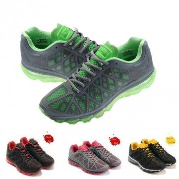 Haute Qualité nouvelles Eever Hommes Chaussures de sport toute la paume coussin Chaussures de course - Black Blue